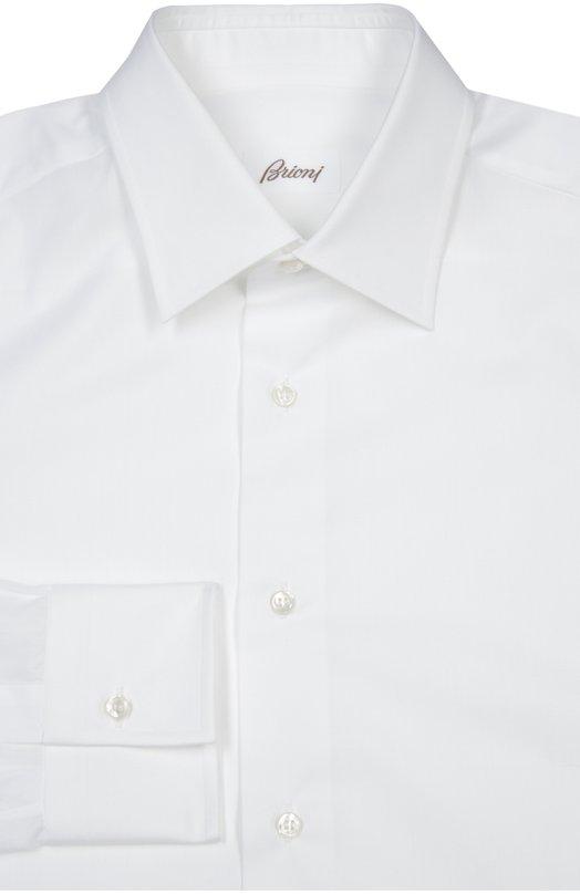 Сорочка BrioniРубашки<br>Модель ручной работы, с воротником кент и длинными рукавами с итальянскими манжетами произведена вручную из гладкого и тонкого хлопка белого цвета. Рубашка вошла в коллекцию сезона весна-лето 2016 года.<br><br>Российский размер RU: 41<br>Пол: Мужской<br>Возраст: Взрослый<br>Размер производителя vendor: 41<br>Материал: Хлопок: 100%;<br>Цвет: Белый