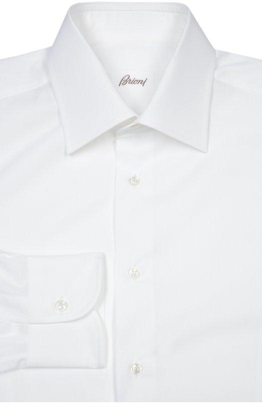 Сорочка BrioniРубашки<br>В коллекцию сезона весна-лето 2016 года вошла рубашка с воротником кент и длинными рукавами с итальянскими манжетами, скругленными по краям. Для изготовления модели был использован гладкий органический хлопок белого цвета.<br><br>Российский размер RU: 41<br>Пол: Мужской<br>Возраст: Взрослый<br>Размер производителя vendor: 41<br>Материал: Хлопок: 100%;<br>Цвет: Белый