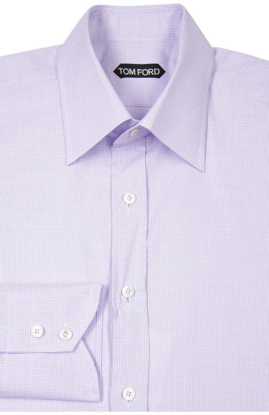 Сорочка Tom FordРубашки<br><br><br>Российский размер RU: 39<br>Пол: Мужской<br>Возраст: Взрослый<br>Размер производителя vendor: 39<br>Материал: Хлопок: 100%;<br>Цвет: Сиреневый