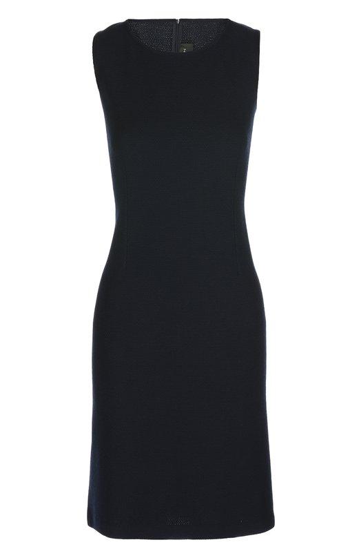 Вязаное платье St. JohnПлатья<br>Темно-синее платье-футляр Milano из весенне-летней коллекции 2016 года произведено из эластичной шерсти пике. Изделие без рукавов и с круглым вырезом застегивается сзади на молнию. Наши стилисты предлагают носить со светлым жакетом и черными лоферами.<br><br>Российский размер RU: 46<br>Пол: Женский<br>Возраст: Взрослый<br>Размер производителя vendor: 8<br>Материал: Шерсть: 90%; Вискоза: 10%;<br>Цвет: Темно-синий