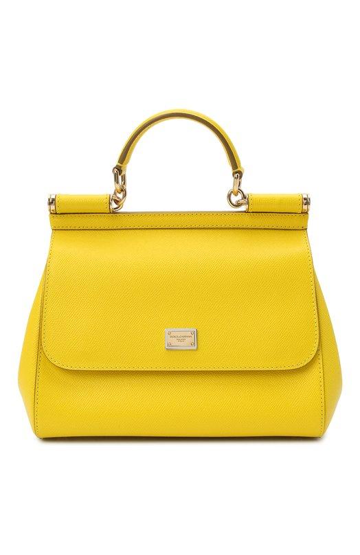 Купить Сумка Sicily medium Dolce & Gabbana, 0116/BB6002/A1001, Италия, Желтый, Кожа натуральная: 100%;