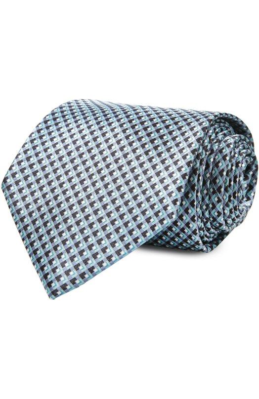 Галстук BrioniГалстуки<br>Широкий галстук сшит мастерами марки вручную из мягкого и гладкого шелка голубого цвета с контрастным микроузором из квадратов. Брендан Маллейн включил аксессуар в коллекцию сезона весна-лето 2016 года. Рекомендуем носить с белой рубашкой и однотонным костюмом.<br><br>Пол: Мужской<br>Возраст: Взрослый<br>Размер производителя vendor: NS<br>Материал: Шелк: 100%;<br>Цвет: Голубой