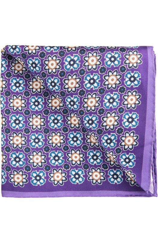 Платок EtonПлатки<br>Аксессуар произведен из мягкого структурированного шелка фиолетового цвета, декорированного фуляровым узором. Края подшиты мастерами бренда вручную. Нагрудный платок паше вошел в коллекцию сезона весна-лето 2016 года.<br><br>Пол: Мужской<br>Возраст: Взрослый<br>Размер производителя vendor: NS<br>Материал: Шелк: 100%;<br>Цвет: Фиолетовый