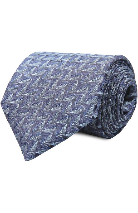 Галстук LanvinГалстуки<br>Аксессуар синего цвета вошел в весенне-летнюю коллекцию бренда, основанного Жанной Ланван. Для изготовления галстука мастера марки использовали мягкий фактурный шелк с геометрическим узором в стиле Аrt deco. Попробуйте сочетать с белой рубашкой и темным костюмом.<br><br>Пол: Мужской<br>Возраст: Взрослый<br>Размер производителя vendor: NS<br>Материал: Шелк: 100%;<br>Цвет: Синий