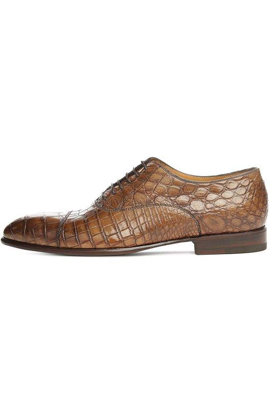 Купить Оксфорды из кожи крокодила Barrett, 161U159/C0CC0, Италия, Коричневый, Стелька-кожа: 100%; Подошва-кожа: 100%; Кожа/крокодил/: 100%;