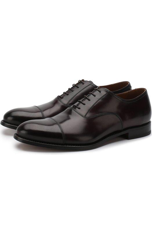 Купить Кожаные оксфорды на шнуровке W.Gibbs, 8378003/BATISFERA, Италия, Бордовый, Кожа натуральная: 100%; Стелька-кожа: 100%; Подошва-кожа: 100%;