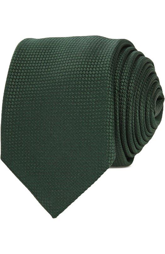 Галстук BaldessariniГалстуки<br>Зеленый галстук с тканым рельефным узором вошел в весенне-летнюю коллекцию бренда, основанного Вернером Балдессарини. Аксессуар сшит из гладкого шелка с добавлением хлопка. Наши стилисты рекомендуют сочетать с белой рубашкой и однотонным костюмом.<br><br>Пол: Мужской<br>Возраст: Взрослый<br>Размер производителя vendor: NS<br>Материал: Шелк: 60%; Хлопок: 40%;<br>Цвет: Зеленый