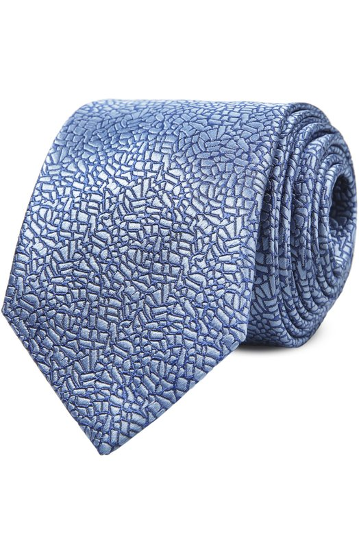 Галстук LanvinГалстуки<br>Галстук выполнен вручную из голубого жаккардового шелка со сплошным контрастным узором. Аксессуар с едва заметным глянцевым блеском вошел в весенне-летнюю коллекцию бренда, основанного Жанной Ланван.<br><br>Пол: Мужской<br>Возраст: Взрослый<br>Размер производителя vendor: NS<br>Материал: Шелк: 100%;<br>Цвет: Голубой