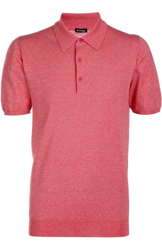 Вязаное поло KitonПоло<br>Поло кораллового цвета вошло в весенне-летнюю коллекцию 2016 года. Модель с короткими рукавами связана мастерами бренда из мягкого хлопка. Наши стилисты предлагают сочетать со свитером, брюками и брогами.<br><br>Российский размер RU: 54<br>Пол: Мужской<br>Возраст: Взрослый<br>Размер производителя vendor: XXL<br>Материал: Хлопок: 100%;<br>Цвет: Коралловый
