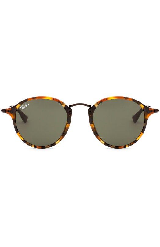 Солнцезащитные очки Ray-BanОчки<br>В коллекцию сезона весна-лето 2016 года вошли круглые солнцезащитные очки с пластиковой черепаховой оправой цвета Black Havana. Темно-зеленые линзы из поликарбоната декорированы контрастным логотипом бренда.<br><br>Пол: Женский<br>Возраст: Взрослый<br>Размер производителя vendor: NS<br>Цвет: Коричневый