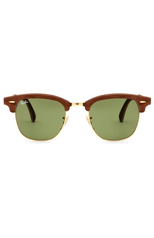 Солнцезащитные очки Ray-BanОчки<br>Солнцезащитные очки Clubmaster со светло-зелеными стеклами вошли в коллекцию сезона весна-лето 2016 года. Мастера марки использовали для создания модели ореховое дерево и позолоченный металл, для внутренней стороны – зеленый каучук.<br><br>Пол: Мужской<br>Возраст: Взрослый<br>Размер производителя vendor: NS<br>Цвет: Зеленый