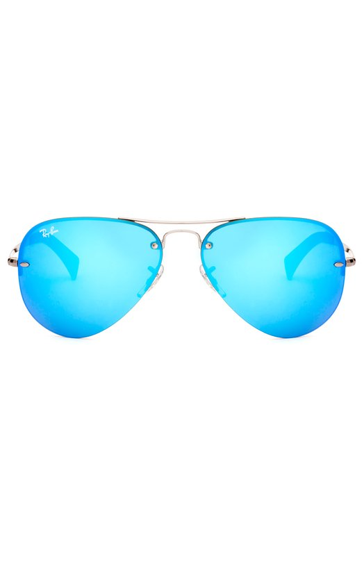 Солнцезащитные очки Ray-BanОчки<br>Солнцезащитные очки Aviator вошли в классическую коллекцию марки. Для производства оправы авиаторов мастера бренда использовали легкий металл серебристого цвета. Дужки дополнены заушниками из непрозрачного черного пластика.<br><br>Пол: Женский<br>Возраст: Взрослый<br>Размер производителя vendor: NS<br>Цвет: Синий