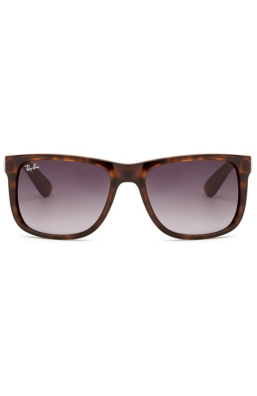 Солнцезащитные очки Ray-BanОчки<br>В весенне-летнюю коллекцию 2016 года вошли солнцезащитные очки Justin с пластиковой оправой черепахового цвета. Аксессуар дополнен темно-серыми поликарбонатными линзами, декорированными логотипом марки.<br><br>Пол: Мужской<br>Возраст: Взрослый<br>Размер производителя vendor: NS<br>Цвет: Бесцветный