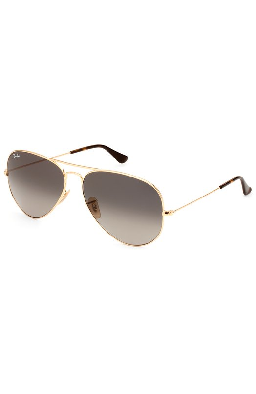 Солнцезащитные очки Ray-BanОчки<br>Солнцезащитные очки Aviator созданы из позолоченного металла. Обновленная версия знаковой для бренда модели с каплевидными градиентными темно-серыми стеклами вошла в коллекцию сезона весна-лето 2016 года.<br><br>Пол: Мужской<br>Возраст: Взрослый<br>Размер производителя vendor: NS<br>Цвет: Бесцветный