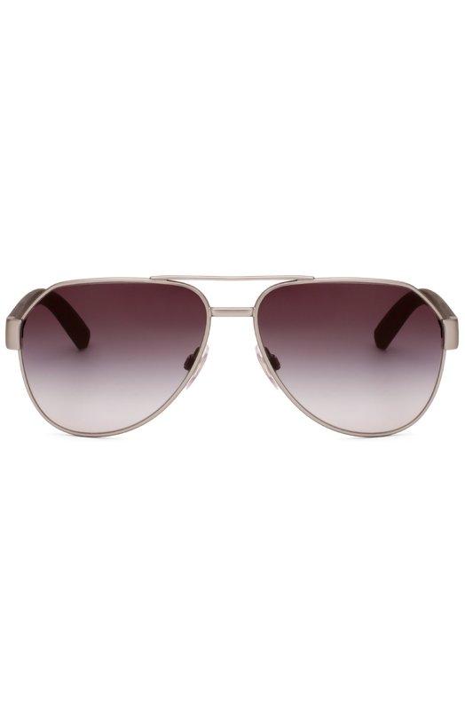 Солнцезащитные очки Dolce &amp; GabbanaОчки<br>Солнцезащитные очки вошли весенне-летнюю коллекцию бренда, основанного Доменико Дольче и Стефано Габбана. Градиентные ударопрочные линзы обеспечивают высокий уровень защиты глаз от УФ-лучей. На дужках — металлический логотип марки.<br><br>Российский размер RU: 61<br>Пол: Мужской<br>Возраст: Взрослый<br>Размер производителя vendor: 61<br>Цвет: Коричневый