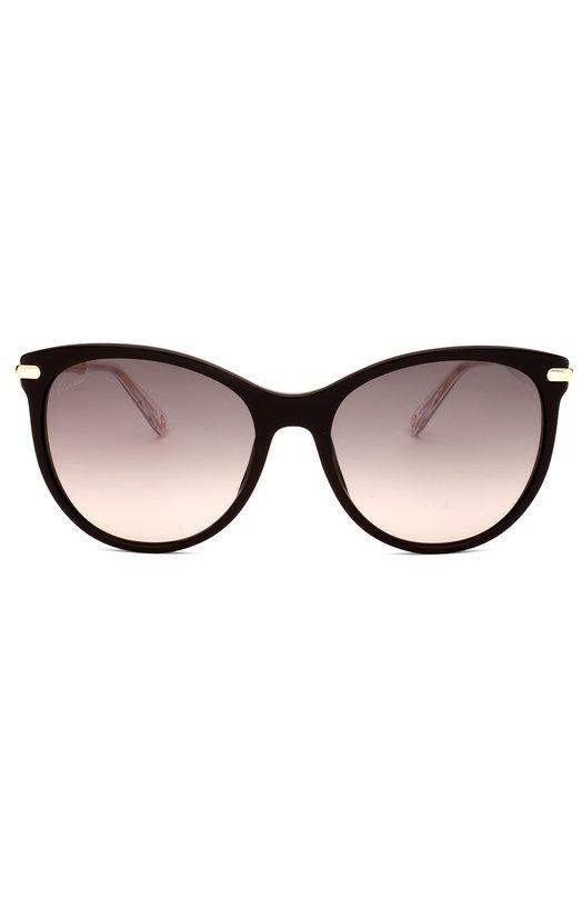 Солнцезащитные очки GucciОчки<br>Солнцезащитные очки из темного ацетата дополнены позолоченными дужками в виде бамбука. Модель вошла в коллекцию сезона весна-лето 2016 года. Аксессуар с серыми градиентными линзами украшен логотипом бренда, основанного Гуччио Гуччи.<br><br>Пол: Женский<br>Возраст: Взрослый<br>Размер производителя vendor: NS<br>Цвет: Черный