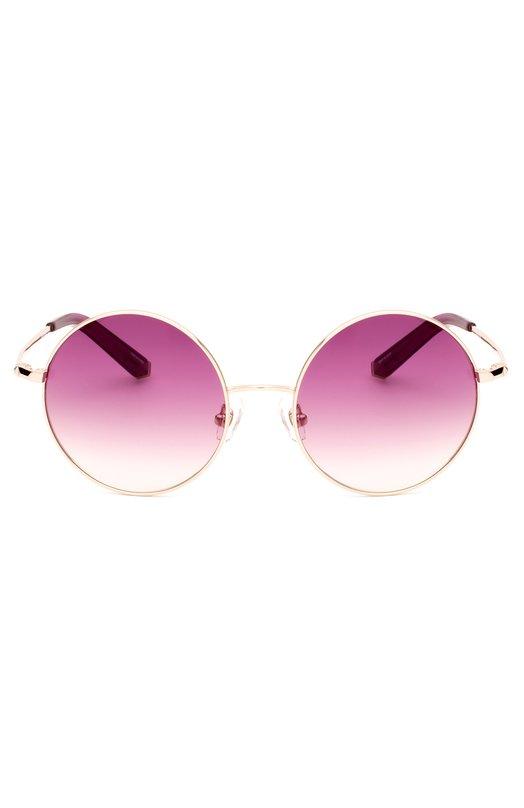Солнцезащитные очки Matthew WilliamsonОчки<br>Мэтью Уильямсон включил солнцезащитные очки с цветными градиентными стеклами в коллекцию сезона весна-лето 2016 года. Тонкая круглая оправа, произведенная из легкого полированного металла, дополнена дужками с пластиковыми заушниками розового цвета. Модель создана в сотрудничестве с Linda Farrow.<br><br>Пол: Женский<br>Возраст: Взрослый<br>Размер производителя vendor: NS<br>Цвет: Розовый