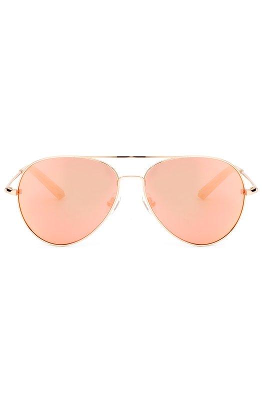 Солнцезащитные очки Matthew WilliamsonОчки<br>Солнцезащитные очки Aviator с зеркальными стеклами вошли в весенне-летнюю коллекцию бренда, основанного Мэтью Уильямсоном. Тонкая оправа с двойным мостом произведена из легкой нержавеющей стали. Дужки дополнены заушниками из прозрачного пластика.<br><br>Пол: Женский<br>Возраст: Взрослый<br>Размер производителя vendor: NS<br>Цвет: Розовый