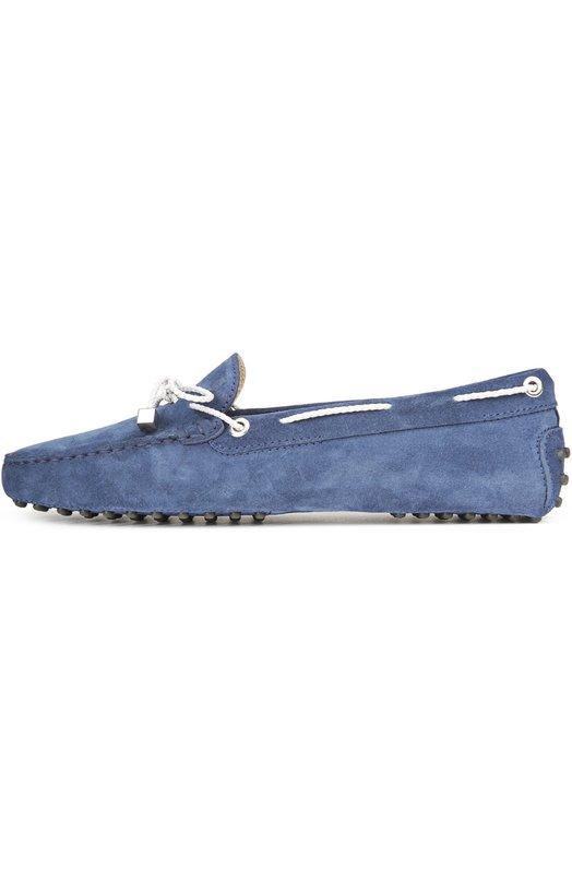 Мокасины Tod'sМокасины<br>Мокасины из мягкой бархатистой замши темно-синего цвета вошли в коллекцию сезона весна-лето 2016 года. Модель с круглым мысом и характерными для обуви марки круглыми резиновыми шипами на подошве дополнена контрастным белым шнуром.<br><br>Российский размер RU: 39<br>Пол: Женский<br>Возраст: Взрослый<br>Размер производителя vendor: 39<br>Материал: Стелька-кожа: 100%; Подошва-резина: 100%; Замша натуральная: 100%;<br>Цвет: Темно-синий