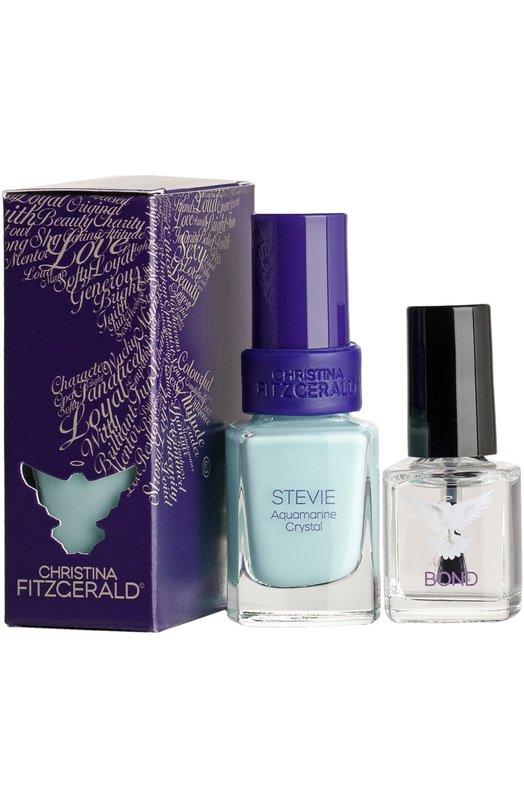 Лак для ногтей Stevie Лазурный берег / + Bond-подготовка Christina FitzgeraldЛаки для ногтей<br><br><br>Объем мл: 12<br>Пол: Женский<br>Возраст: Взрослый<br>Цвет: Бесцветный