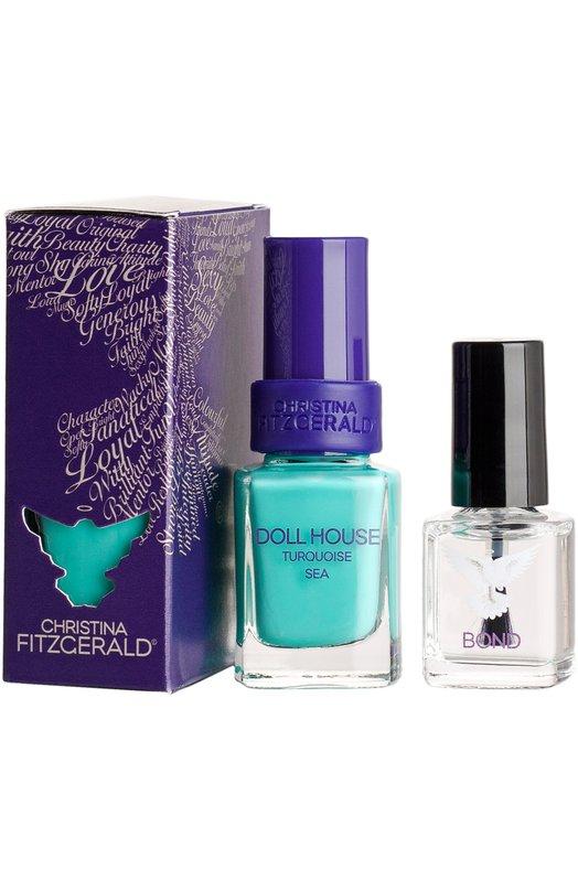 Лак для ногтей Doll House / Морская бирюза + Bond-подготовка Christina Fitzgerald 9333381002013
