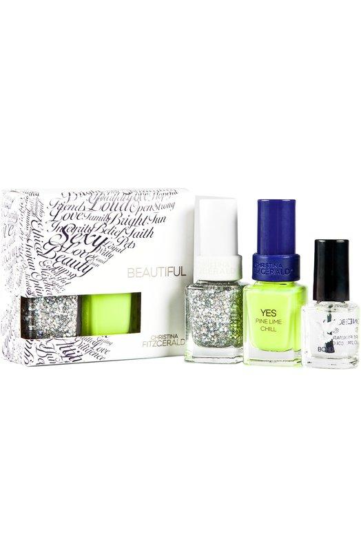 Набор лаков Wish + Yes Christina FitzgeraldЛаки для ногтей<br><br><br>Объем мл: 12<br>Пол: Женский<br>Возраст: Взрослый<br>Цвет: Бесцветный