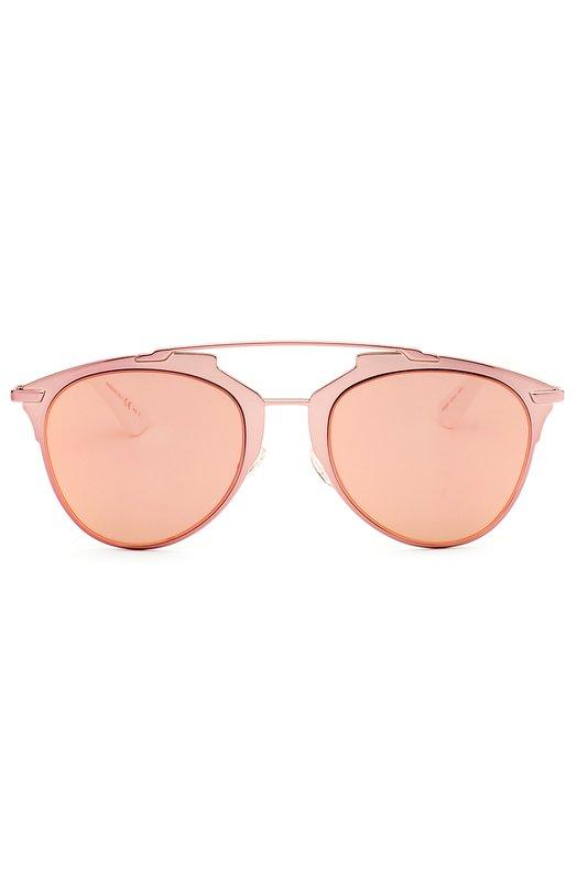 Солнцезащитные очки DiorОчки<br>Солнцезащитные очки Reflected с оправой формы панто выполнены из прозрачного ацетата розового цвета, дужки — из белого пластика. Аксессуар с зеркальными линзами в тон вошел в весенне-летнюю коллекцию бренда, основанного Кристианом Диором.<br><br>Пол: Женский<br>Возраст: Взрослый<br>Размер производителя vendor: NS<br>Цвет: Розовый