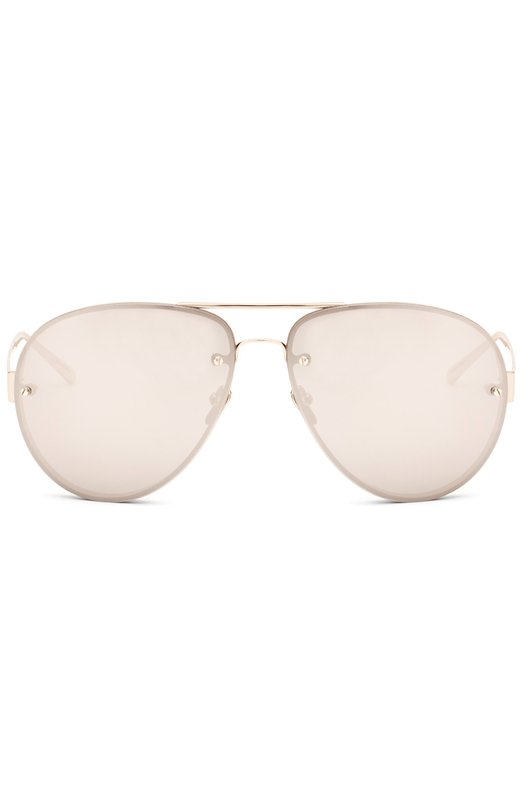 Солнцезащитные очки Linda FarrowОчки<br>В весенне-летнюю коллекцию бренда, основанного Линдой Фарроу, вошли солнцезащитные очки с серыми зеркальными линзами. Ультратонкая оправа изготовлена из легкого титана, покрытого 22-каратным золотом.<br><br>Пол: Женский<br>Возраст: Взрослый<br>Размер производителя vendor: NS<br>Цвет: Бесцветный