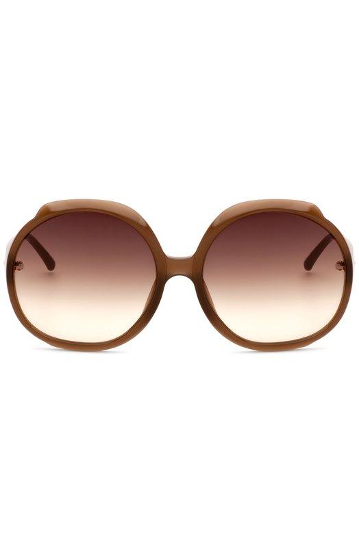 Солнцезащитные очки Linda FarrowОчки<br>В коллекцию сезона весна-лето 2016 года вошли очки oversize с коричневыми градиентными стеклами. При создании оправы и дужек мастера марки, основанной Линдой Фэрроу, использовали пластик коричневого цвета.<br><br>Пол: Женский<br>Возраст: Взрослый<br>Размер производителя vendor: NS<br>Цвет: Бесцветный