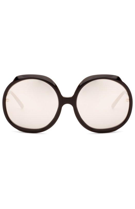 Солнцезащитные очки Linda FarrowОчки<br>В весенне-летнюю коллекцию бренда, основанного Линдой Фэрроу, вошла модель 417 из прочного пластика черного цвета. Солнцезащитные очки с оправой круглой формы выполнены мастерами марки вручную. Модель дополнена тонкими дужками.<br><br>Пол: Женский<br>Возраст: Взрослый<br>Размер производителя vendor: NS<br>Цвет: Бесцветный