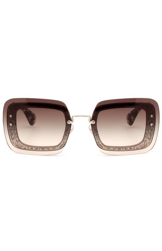 Купить Солнцезащитные очки Miu Miu, 01RS-DHE0A7, Италия, Коричневый