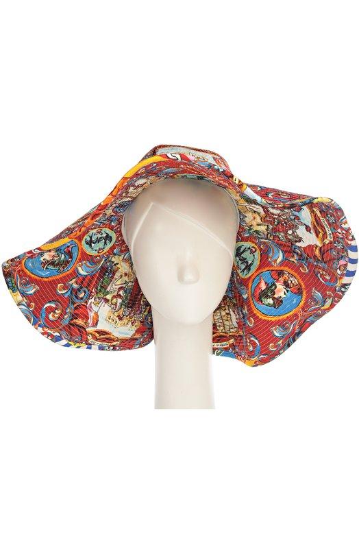 Широкополая шляпа с принтом Caretto Siciliano Dolce & Gabbana 0136/FH330A/FPMZ6