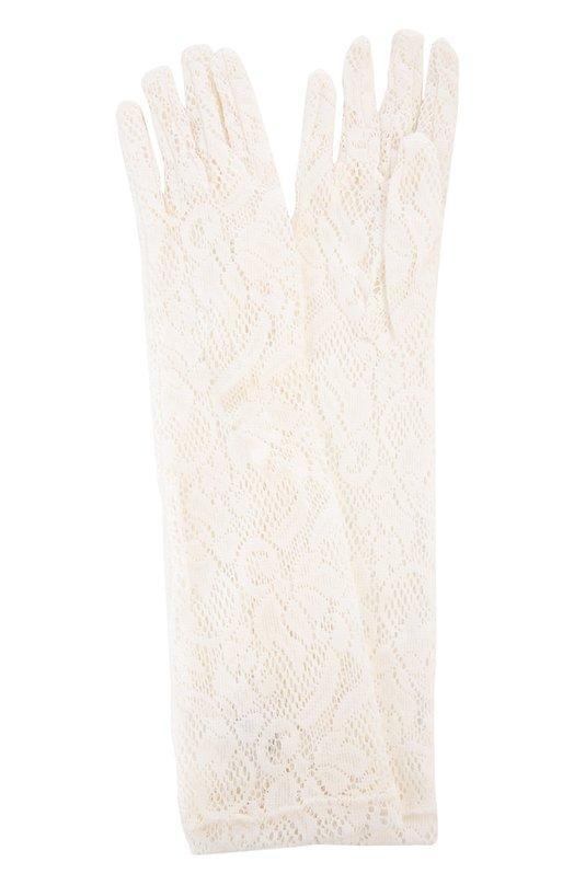 Перчатки Sermoneta GlovesПерчатки<br>При производстве вечерних перчаток белого цвета мастера бренда выбрали прочную кружевную ткань с растительным узором. Аксессуар вошел в весенне-летнюю коллекцию бренда, основанного Джорджио Сермонета.<br><br>Пол: Женский<br>Возраст: Взрослый<br>Размер производителя vendor: NS<br>Материал: Вискоза: 80%; Полиамид: 20%;<br>Цвет: Белый