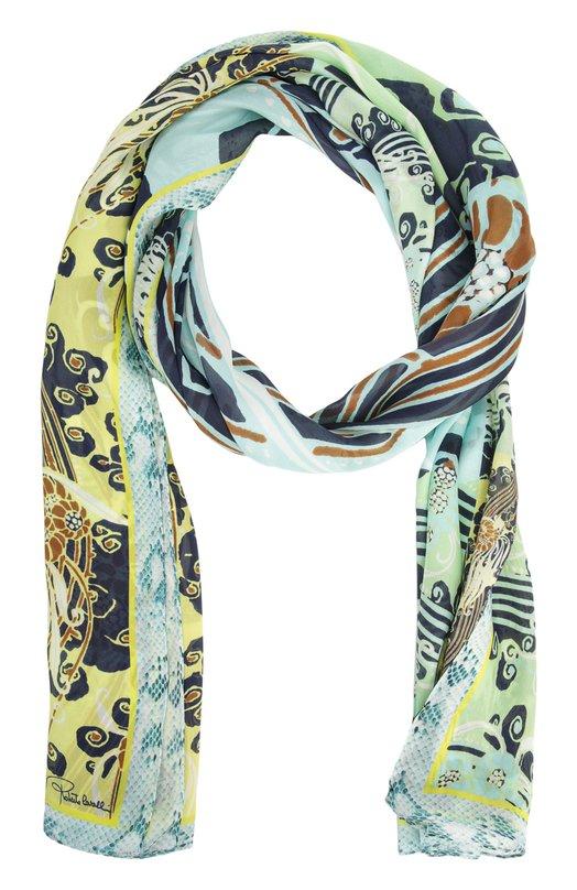 Шелковый платок с принтом Roberto Cavalli C3802E460