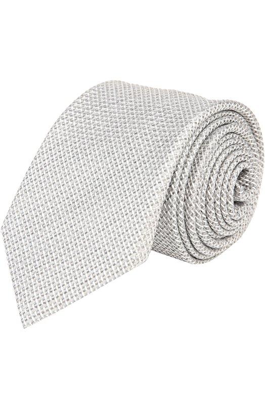 Галстук BrioniГалстуки<br>Аксессуар светло-серого цвета, сшитый вручную, вошел в коллекцию сезона весна-лето 2016 года. Для изготовления галстука с жаккардовым узором мастера марки использовали мягкий структурированный шелк. Попробуйте сочетать с белой рубашкой и темным костюмом.<br><br>Пол: Мужской<br>Возраст: Взрослый<br>Размер производителя vendor: NS<br>Материал: Шелк: 100%;<br>Цвет: Светло-серый