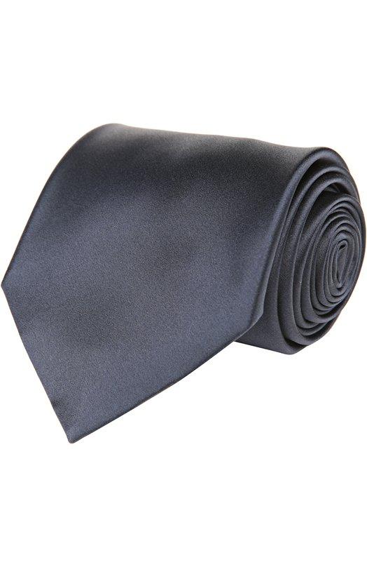 Галстук BrioniГалстуки<br>Аксессуар, сшитый вручную, вошел в коллекцию сезона весна-лето 2016 года. Для создания галстука темно-синего цвета мастера бренда использовали мягкий атласный шелк. Попробуйте сочетать с белой рубашкой и темным костюмом.<br><br>Пол: Мужской<br>Возраст: Взрослый<br>Размер производителя vendor: NS<br>Материал: Шелк: 100%;<br>Цвет: Темно-синий