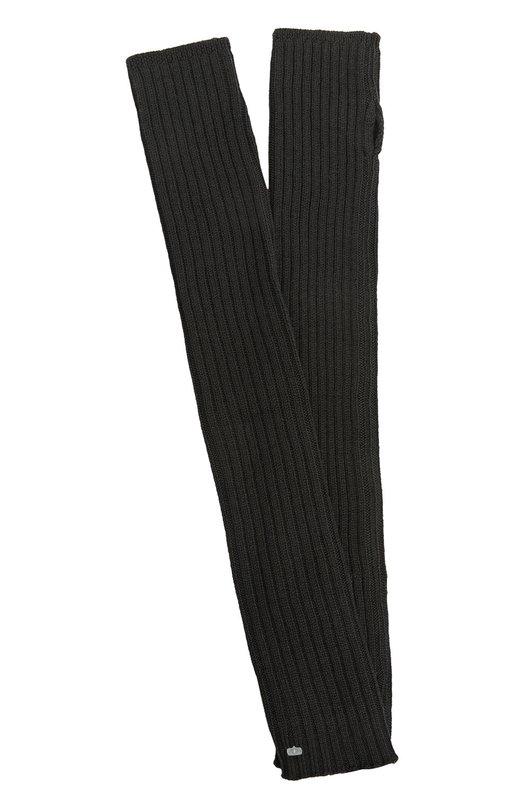 Вязаные перчатки Rick OwensПерчатки<br>В весенне-летнюю коллекцию бренда, основанного Риком Оуэнсом, вошли длинные митенки Scaldabraccia. Для производства модели с вязаным узором в рубчик была использована мягкая шерстяная пряжа черного цвета.<br><br>Пол: Мужской<br>Возраст: Взрослый<br>Размер производителя vendor: NS<br>Материал: Шерсть: 100%;<br>Цвет: Черный