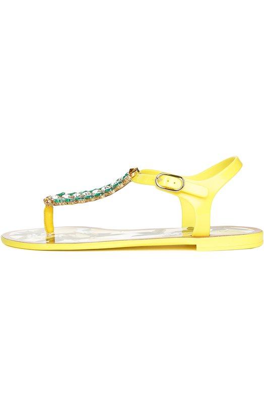 Резиновые сандалии с декором Dolce & Gabbana 0112/CW0023/AR487