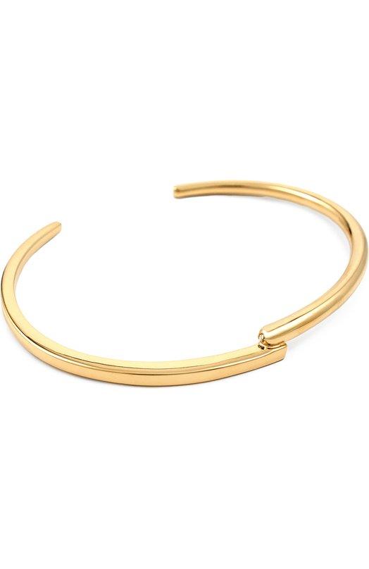 Браслет XrБраслеты<br>Мастера бренда произвели браслет в форме незамкнутого кольца из матового позолоченного металла. Н аодном из концов расположен небольшой бриллиант. Украшение вошло в коллекцию сезона весна-лето 2016 года.<br><br>Российский размер RU: 18<br>Пол: Женский<br>Возраст: Взрослый<br>Размер производителя vendor: S<br>Материал: Недрагоценный металл; Вставка-бриллиант;<br>Цвет: Золотой