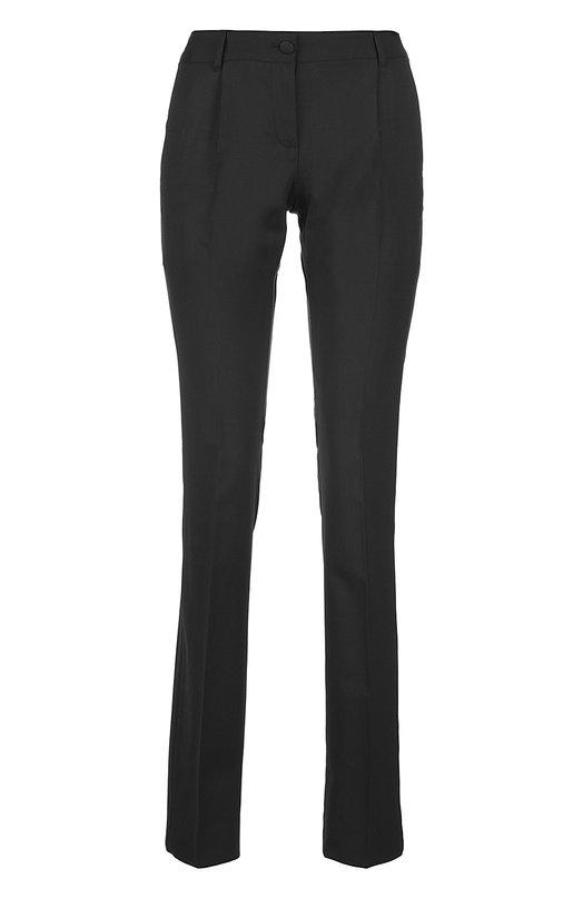 Брюки Dolce &amp; GabbanaБрюки<br>В весенне-летнюю коллекцию бренда, основанного Доменико Дольче и Стефано Габбана, вошли брюки из плотной черной шерсти с добавлением эластановых волокон. Нашим стилистам нравится сочетать с белой блузой, темно-синим смокингом и черными туфлями.<br><br>Российский размер RU: 44<br>Пол: Женский<br>Возраст: Взрослый<br>Размер производителя vendor: 42<br>Материал: Шерсть: 97%; Эластан: 3%;<br>Цвет: Черный