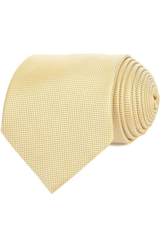 Галстук Ermenegildo ZegnaГалстуки<br>В весенне-летнюю коллекцию бренда, основанного Эрменеджильдо Зенья, вошел желтый галстук, выполненный вручную из жаккардового шелка с тканым клетчатым микроузором. Рекомендуем сочетать с белой рубашкой и однотонным костюмом.<br><br>Пол: Мужской<br>Возраст: Взрослый<br>Размер производителя vendor: NS<br>Материал: Шелк: 100%;<br>Цвет: Желтый