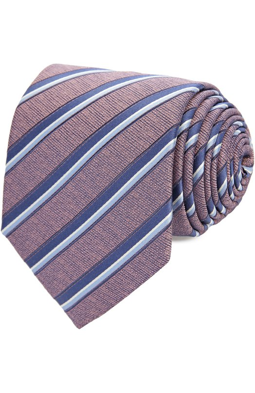 Шелковый галстук в пастельную полоску Ermenegildo Zegna Z7E331UM