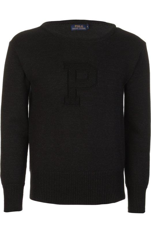 Свитер вязаный Polo Ralph LaurenСвитеры<br>В весенне-летнюю коллекцию 2016 года вошел черный свитер с длинными рукавами. Мастера бренда, основанного Ральфом Лореном, выполнили модель из мягкой хлопковой пряжи. Спереди — вывязанный узор в виде буквы «P». Рекомендуем носить с футболкой, джинсами и брогами.<br><br>Российский размер RU: 56<br>Пол: Мужской<br>Возраст: Взрослый<br>Размер производителя vendor: XXL<br>Материал: Хлопок: 100%;<br>Цвет: Черный