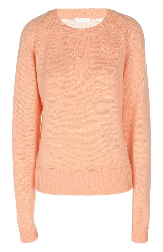 Кашемировый пуловер с удлиненным рукавом и круглым вырезом Chloé Chloe