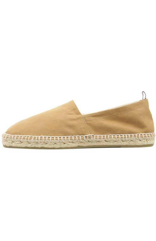 Эспадрильи CastanerЭспадрильи<br>В весенне-летнюю коллекцию бренда, основанного Луисом Кастенером, вошли эспадрильи C. Pablo. Обувь выполнена из плотного текстиля бежевого цвета. Широкая подошва украшена широким плетением из джута.<br><br>Российский размер RU: 42<br>Пол: Мужской<br>Возраст: Взрослый<br>Размер производителя vendor: 42<br>Материал: Подошва-резина: 100%; Текстиль: 100%; Стелька-текстиль: 100%;<br>Цвет: Бежевый