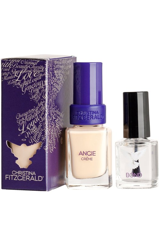 Лак для ногтей Angie / Крем-брюле + Bond-подготовка Christina Fitzgerald 9333381001870