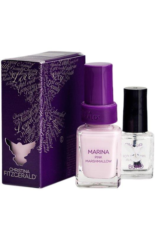 Купить Лак для ногтей Marina Розовый зефир и Bond-подготовка Christina Fitzgerald, 9333381000804, Австралия, Бесцветный