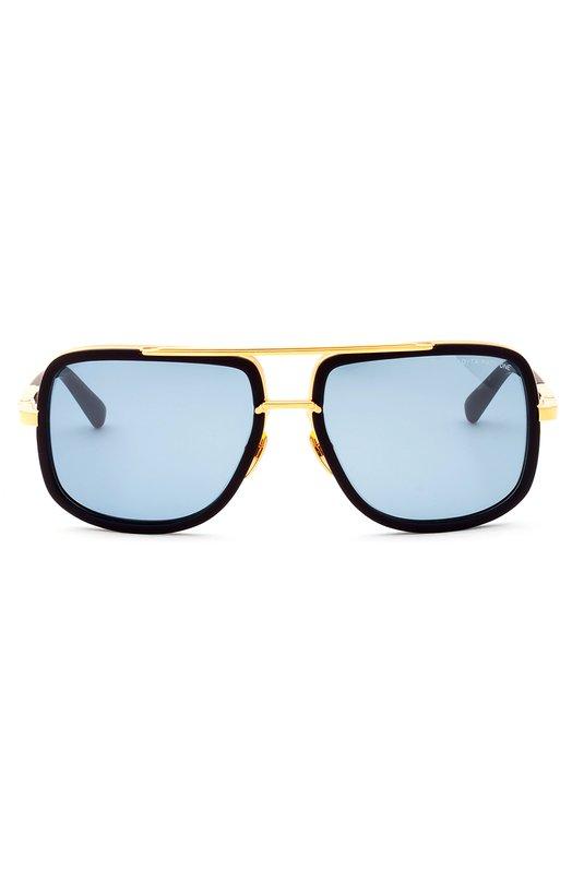 Солнцезащитные очки DitaОчки<br>Солнцезащитные очки Mach-One дополнены голубыми линзами с антибликовым покрытием и максимальной степенью защиты от УФ-лучей. Оправа произведена из черного легкого ацетата и прочного позолоченного титана.<br><br>Пол: Мужской<br>Возраст: Взрослый<br>Размер производителя vendor: NS<br>Цвет: Синий