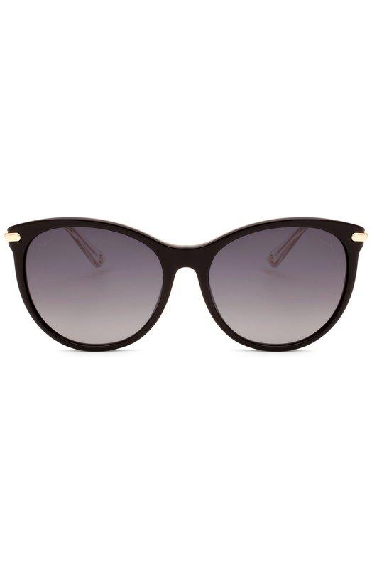 Солнцезащитные очки GucciОчки<br>Солнцезащитные очки в черной пластиковой оправе cat-eye дополнены градиентными серыми линзами с максимальной степенью защиты от УФ-лучей. Тонкие позолоченные дужки, выполненные в виде стеблей бамбука, украшены выгравированным логотипом бренда, основанного Гуччио Гуччи.<br><br>Пол: Женский<br>Возраст: Взрослый<br>Размер производителя vendor: NS<br>Цвет: Черный