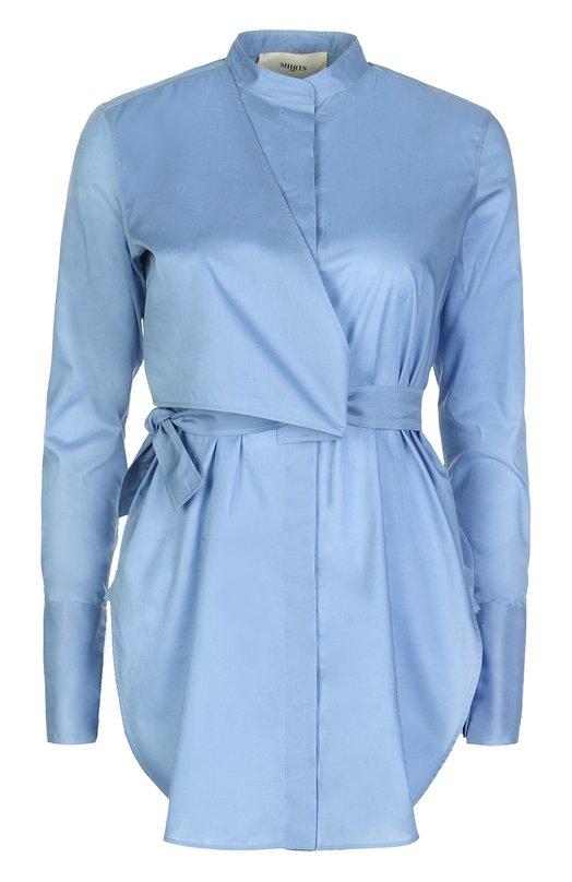 Блуза Ports 1961Блузы<br>В весенне-летнюю коллекцию 2016 года вошла блуза с воротником-мандарин и длинными рукавами с широкими манжетами. Модель из тонкого голубого хлопка, дополненная асимметричной кокеткой спереди, застегивается на потайные пуговицы. Советуем носить с белыми брюками и бежевыми босоножками.<br><br>Российский размер RU: 44<br>Пол: Женский<br>Возраст: Взрослый<br>Размер производителя vendor: 42<br>Материал: Хлопок: 100%;<br>Цвет: Голубой
